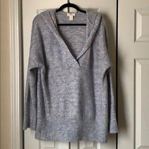 Sky Blue Loft hooded sweater.